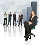 Business team - Colum chart Stock Photography