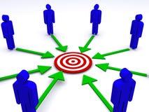 Business team communication vector illustration