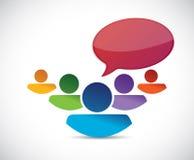 Business team communication illustration Stock Image