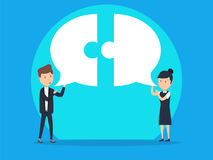 Business team communication with speech bubble. Concept business.  vector illustration