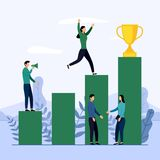 Business team and competition, achievement, successful, challenge. Business concept vector illustration stock illustration