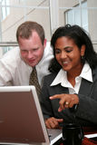 Business Team at Computer Stock Images