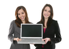 Business Team with Computer Royalty Free Stock Photography