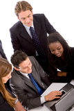 Business team on a computer Royalty Free Stock Photography