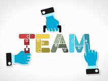 Business team. Business concept illustration with team word made out of puzzle pieces Stock Photography