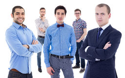 Business team concept - portrait of young handsome business men Stock Photography
