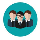 Business team. Concept vector icon. Group with leader Royalty Free Stock Photos