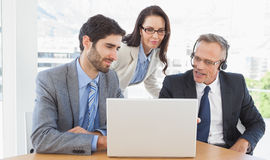 Business team in a conference call Stock Photo