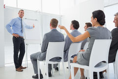 Business team during conference. In meeting room Royalty Free Stock Image