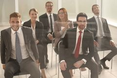Business team in the conference room stock photos
