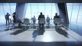 Business team in conference room stock video