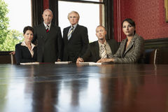 Business Team At Conference Table Stock Images
