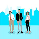 Business team. Confident businesspeople. Vector illustration of team of reformer and crisis managers. Successful and confident young business creatives stock illustration