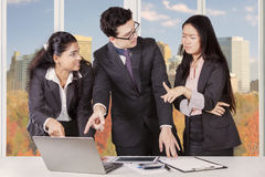 Business team with conflict in the workplace Royalty Free Stock Photography