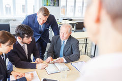 Business team and consultant. Working together in analysis advice royalty free stock photography