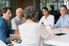 Business team in conversation royalty free stock photography