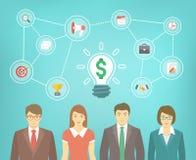 Business Team Creates Idea Royalty Free Stock Image