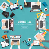 Business team. Creative team working in the office, designers, photographers and marketing experts working together Stock Image