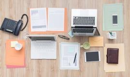 Business team desktop Stock Image
