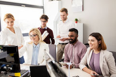 Business team developing renewable energy project Royalty Free Stock Photo