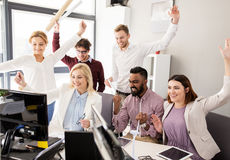 Business team developing renewable energy project Royalty Free Stock Photography