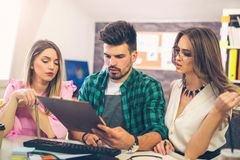Business team discuss business ideas Royalty Free Stock Image