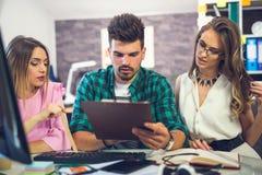 Business team discuss business ideas Stock Image