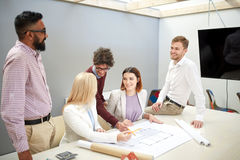 Business team discussing house project at office Royalty Free Stock Photo