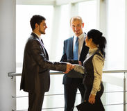 Business team discussing the latest financial results Royalty Free Stock Images