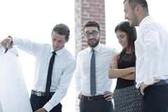 Business team discussing a new idea. Stock Photo