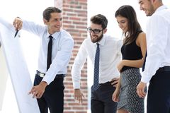 Business team discussing a new idea. Royalty Free Stock Photo