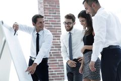 Business team discussing a new idea. Stock Images
