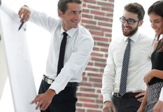Business team discussing a new idea. Royalty Free Stock Image