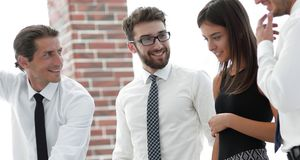 Business team discussing a new idea. Stock Photography