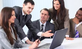 Business team discussing new ideas Stock Photo