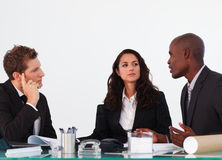 Business team discussing a new plan Stock Photos
