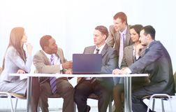 Business team discussing a new business plan Stock Photography