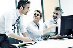 Business team discussing new project Royalty Free Stock Photos