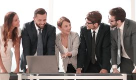 Business team is discussing online information stock photos
