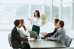 Business team discussing the plan of work at the work Stock Photography
