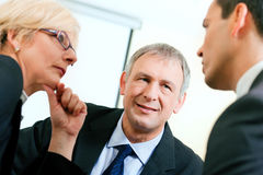 Business team discussing a project Royalty Free Stock Image
