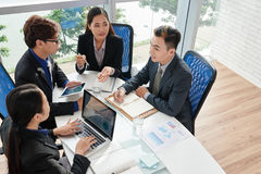 Business Team Discussing Project Stock Photos