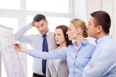 Business team discussing something in office Stock Photography