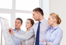 Business team discussing something in office Stock Image