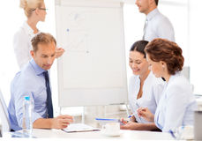 Business team discussing something in office Royalty Free Stock Photos