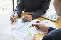 Business team discussing their ideas in office. Working collabor Royalty Free Stock Images