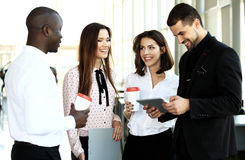 Business team discussing together business plans Stock Images