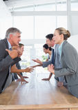 Business team discussing together Royalty Free Stock Photo
