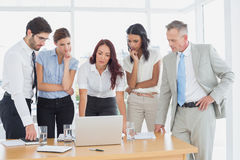 Business team discussing work details Royalty Free Stock Photo