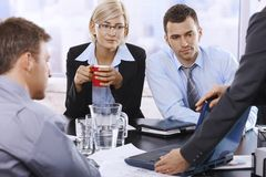 Business team at discussion Royalty Free Stock Images